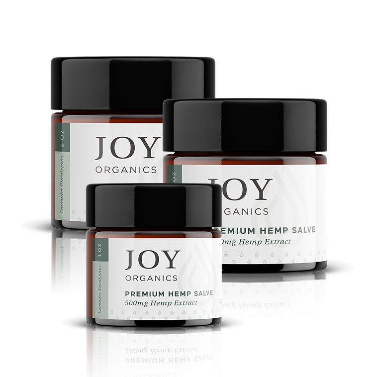Joy Organics premium hemp salve assortment
